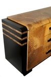 Donald Deskey Art Deco Walnut Burl Buffet for Hastings Table Company